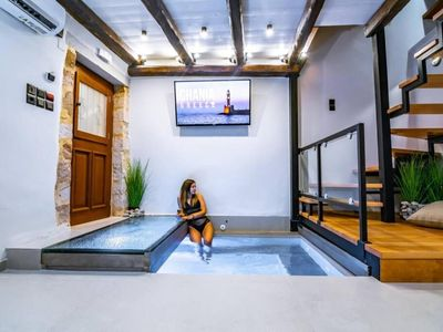 Photo for CasaBene-Modern decorated house with indoor pool at Chania Old town