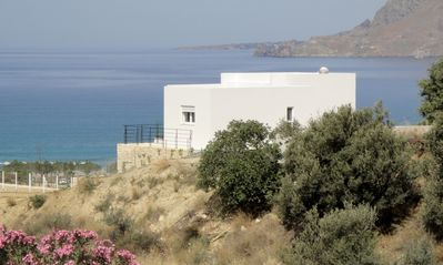 Villa Evriali looking out to the Libyan Sea