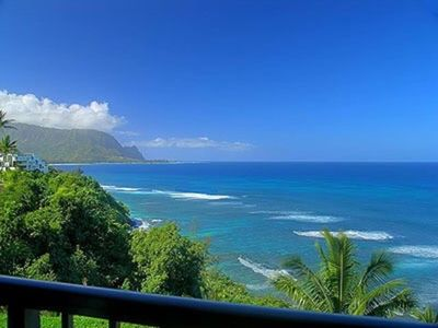 Breathtaking Ocean and mountain views from the lanai