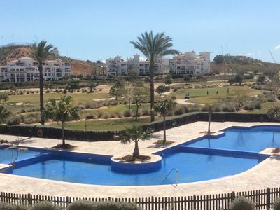 Photo for Superb apartment large balcony on stunning golf resort Free WiFi sleeps up to 6.