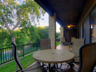 Photo for COMAL RIVERFRONT! Across from Schlitterbahn! Walk to Downtown New Braunfels!