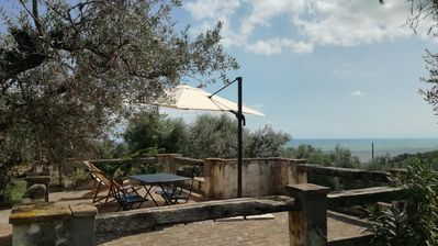 Photo for Mondomini - Charming country house with views on sea, hills and mountains