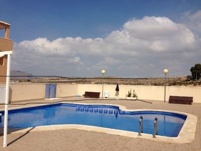 Photo for New apartment with large terrace in a building with pool