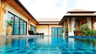 Photo for Luxury villa Empyrean. 3 Bedroom, Large  Pool, Beautiful Garden. Nai Harn Beach