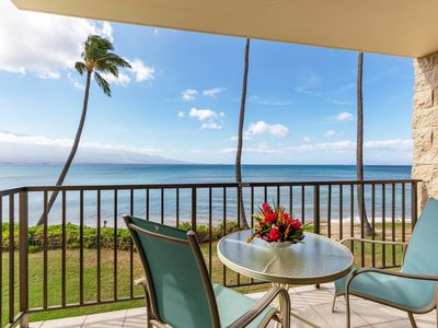 Photo for Maui Beach Front Experiance - Just Steps To The Sand!*Kanai A Nalu 204*