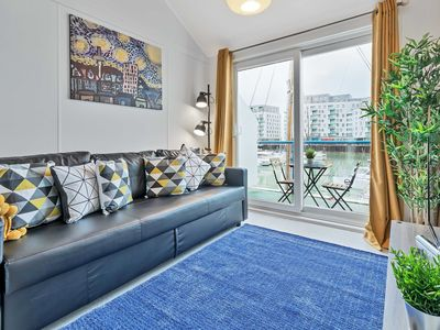 Photo for On the Water -waterside studio with terrace overlooking the harbour