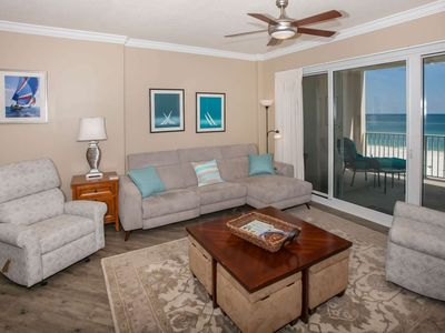Photo for Gulf Front 2/2.5, Slps 6, Blcny, Jet Tub, Pool/Hot Tub/Fit Ctr/BBQ, Free Activities-Regency Isle 411