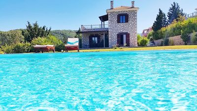 Photo for Executive Lefkada Villa | Private Pool | Sea View | 2 Bedrooms Jacuzzi | Sfakiotes