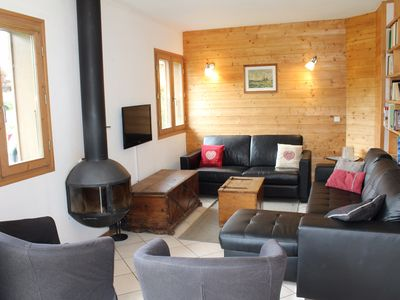 Photo for Chalet Replan - Very nice chalet foosteps to ski slopes and Les Gets lake, 4 bedrooms, sleeps 11