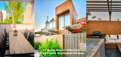 Photo for 12 Room Resort Villa Golf & Free Tennis Scottsdale w/Spa & Patio, 10-min to Old Town