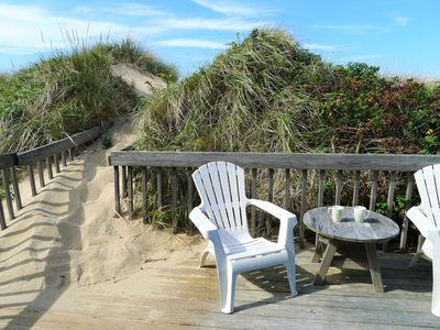 Photo for IN THE DUNES! LOVELY COTTAGE JUST STEPS FROM THE BAY!