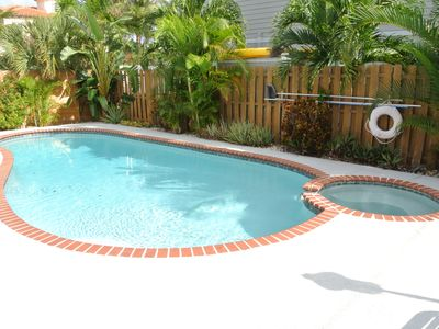 Photo for Beach House East of A1A, Private Pool, Outdoor Oasis