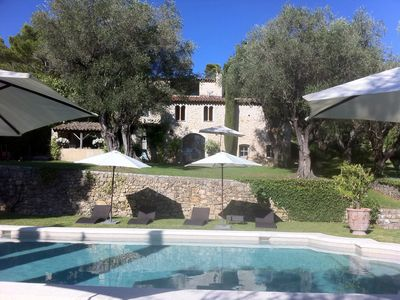 "Photo for Authentic old provençal ""mas"" restored with style and charm in the heart of a wonderfull shaded garden."