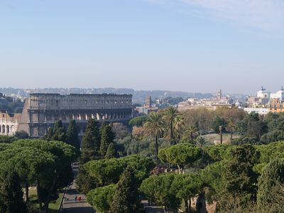 Photo for apartment In the heart of Rome wonderful view front of the Colosseum discounts