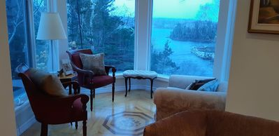 Photo for Luxurious romantic waterfront- 10 minutes to Halifax. Canopy bed- fireplaces
