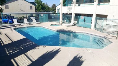 1 Bedroom 1 bath on 2nd floor in gated community with pool! Close to LV blvd!