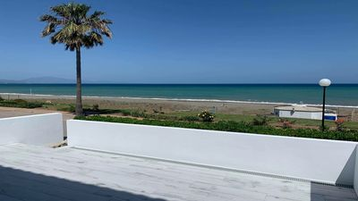 Photo for First line beach house with 3 bedrooms and views to the sea and beach