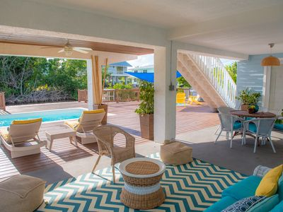 Photo for Private Pool, Completely Renovated Lovely Cottage Home in Islamorada