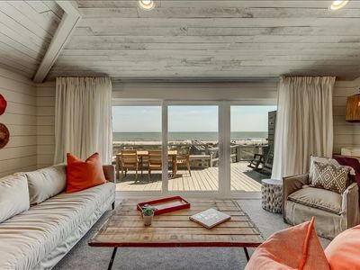 """Photo for 1940 North is one-side of a stunning ocean front duplex.  Also known as the """"Orange"""" side due to the fabulous bright orange barn doors located on the second floor in the spacious living area.  Professionally decorated with custom pieces."""