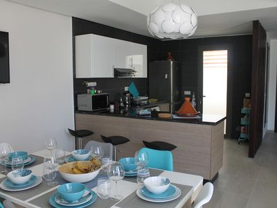 Photo for Super Duplex Tamourrit (125m²) by the sea and golf, Taghazout Bay near Agadir
