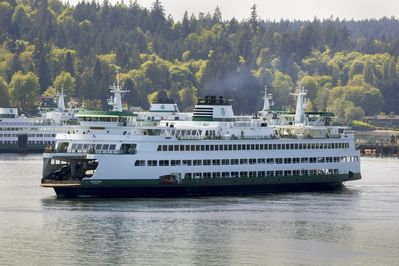 Ferry to Seattle in 30 minutes right in front of your suite about every hour