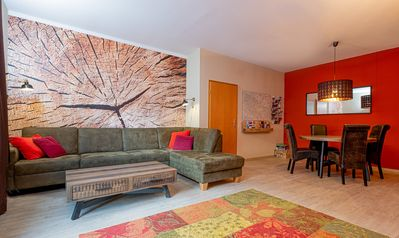 Photo for Spacious renovated holiday apartment in the centre of town next to the river.