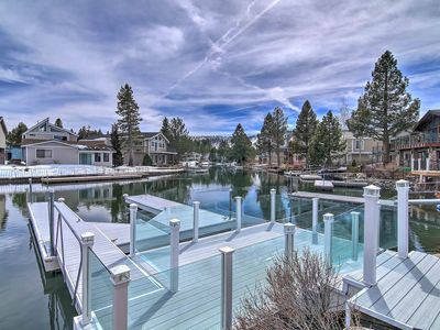 Photo for Large Waterfront Home w/ Private Boat Slip in Tahoe Keys - Heavenly Harbor