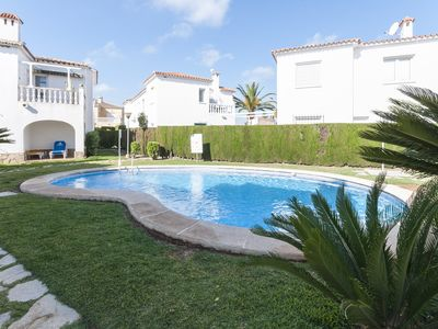 Photo for RUFINA - Apartment with shared pool in OLIVA.
