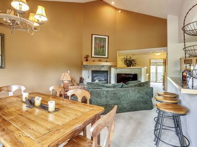 Photo for Ski in/out, just steps to downtown! hot tub, wifi, Xplorie activities included!