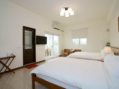 Photo for Songhe Homestay -- He Room for 4 -- New Elevator Villa, Mountain View