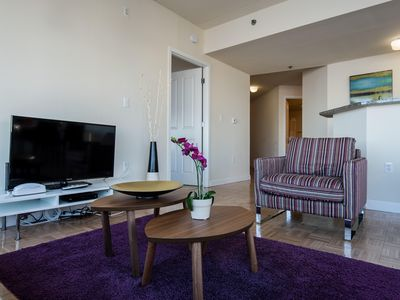 Photo for Terrace w/views of the Hudson River. Lounge, children's room, gym, and pool!