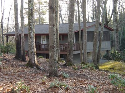 Secluded on 25 Acres, less than 1/2 mile from Dupont Forest Parking lot.