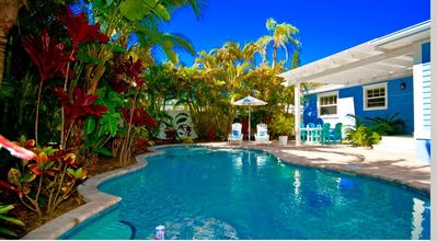 Photo for Bean Point Beach Cottage: Beautiful North End Private Pool Home Close To The Bay And The Beach!