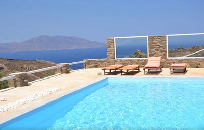 "Photo for ""The Pomegranate"" love nest with a romantic view of the sea, Tinos and the Lighthouse"
