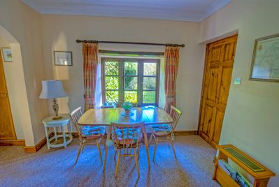 Dining area with views over the rear garden.