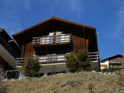 Photo for Outside : chalet for 5 persons, balcony, terrace with garden furniture and barbecue -Inside : 85 sqm