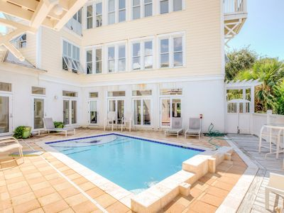 "Photo for 5BR ""Big Fish House"" w/ Private Heated Pool - 200 Steps to Seagrove Beach!"