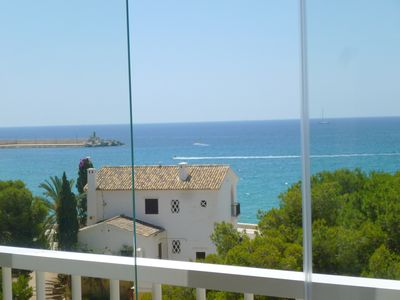 Photo for Stunning sea views from your living room + Parking + WiFi + TV all included Fransat