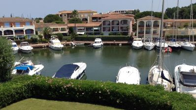 Photo for Beautiful apartment with sea view Port Cogolin (St Tropez)