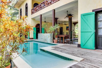 You can swim in the comfortable pool of the property