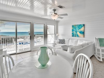 Photo for ADORABLE NEW GULF FRONT LISTING, 4BR, Sleeps 10 w/heated comm. pool & hot tub