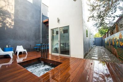Your private Jacuzzi. This spa is for your house only and is very private.