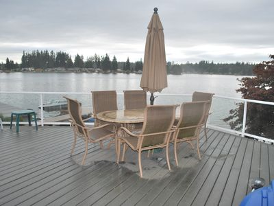 Photo for Lake Goodwin Waterfront Home, Dock, Sleeps 6, 3 Bedrooms, 2 -1/2 Baths,
