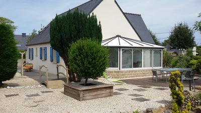 Photo for Locmiquel beach and access to the Gulf of Morbihan 900m.