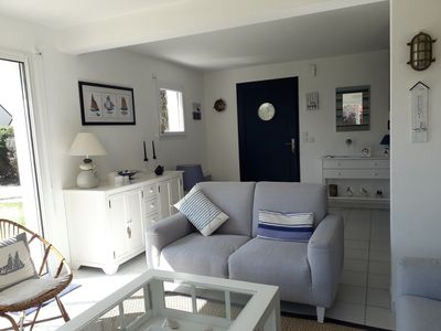 Photo for renting a detached house, 500 m from the beach, with garden, quiet