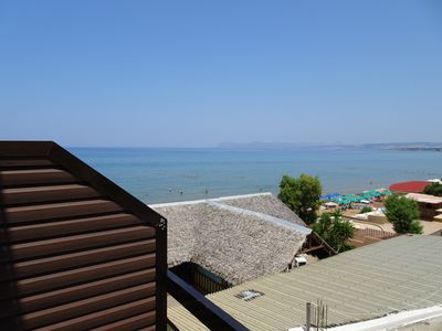 Photo for Unexpensive room, 10metres from the beach with half-SeaView and corner-balcony