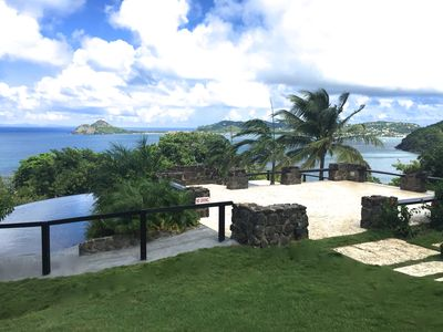 Enjoy incredible 330 degree water views from St Lucia's best sited home