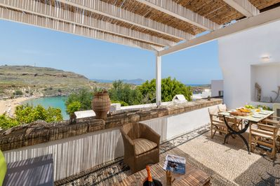 Villa Chrissa has a wonderful  large terrace with seaview