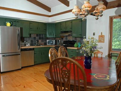 Photo for Fabulous Views, Centrally-located cabin w/ hot tub and 5 min walk to lake, grill