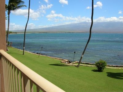 View from the Lanai to Haleakala